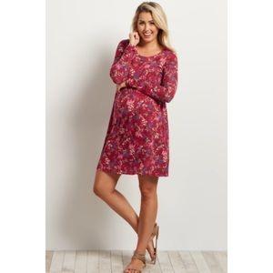 Pinkblush Maternity Floral Long Sleeves Dress